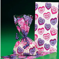 12 Conversation Heart Goody Bags
