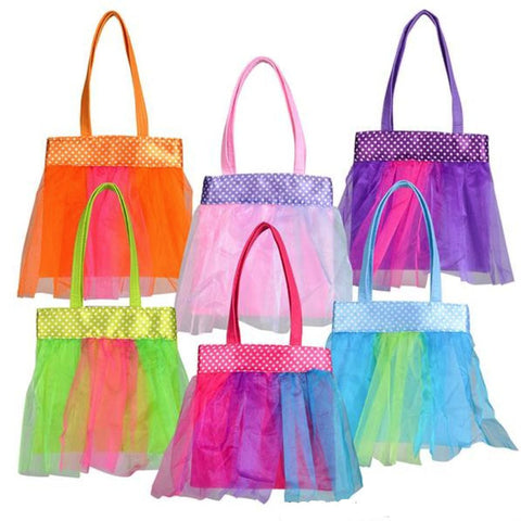 "7.5"" Ballerina Tutu Novelty Tote Bags (12 Pack)"