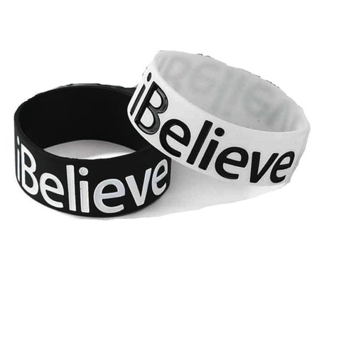 I Believe Big Band Teen Bracelets - 2 Pack