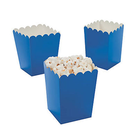 Mini Blue Popcorn Boxes (24 Count)