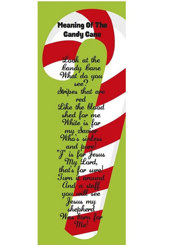 Meaning Of The Candy Cane Bookmarks 24 Pack