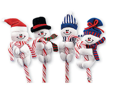 Snowman Candy Cane Huggers 12 Pack