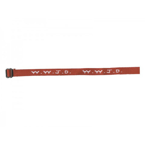 6 Red WWJD Cloth Woven Bracelets