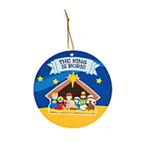 Nativity Sticker Scene Ornaments  - Makes 24 Ornaments