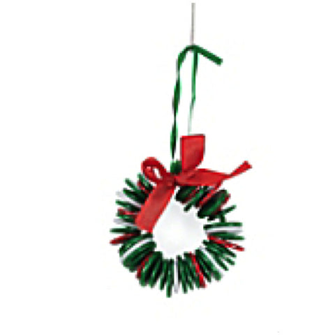 Button Wreath Christmas Ornament Craft Kit - Makes 12 Ornaments