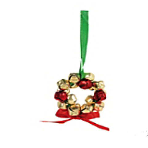 Metal Jingle Bell Wreath Christmas Ornaments Craft Kit  - Makes 12