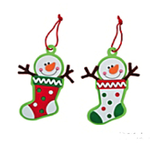 Snowman Stocking Christmas Ornament Craft Kit - Makes 50 Ornaments