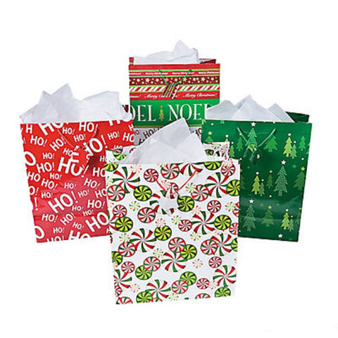 "14.5"" Christmas Gift Bag Assortment (12 Count)"