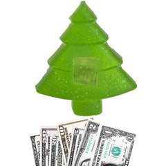 Merry Christmas Tree Money Soap Real Cash in Every Bar (Set of 2)
