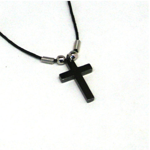 12 Hematite Cross Necklaces