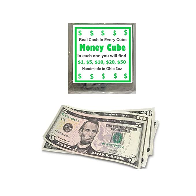 The Money Cube Real Cash Gift Soap
