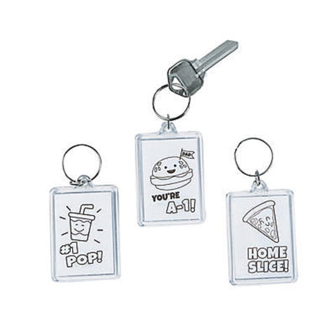 Color Your Own Father's Day Keychains Makes 12