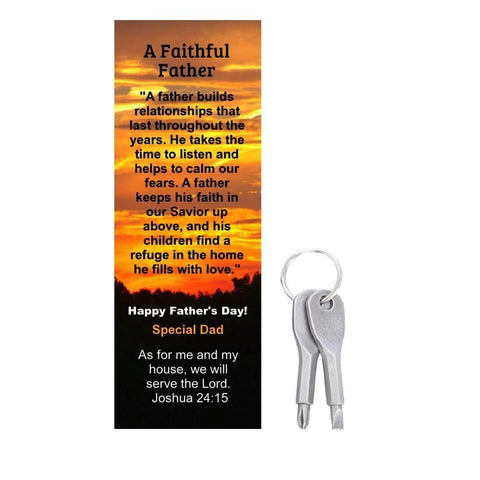 Happy Father's Day Faithful Father Special Dad Bookmarks With Tools (10 Pack)