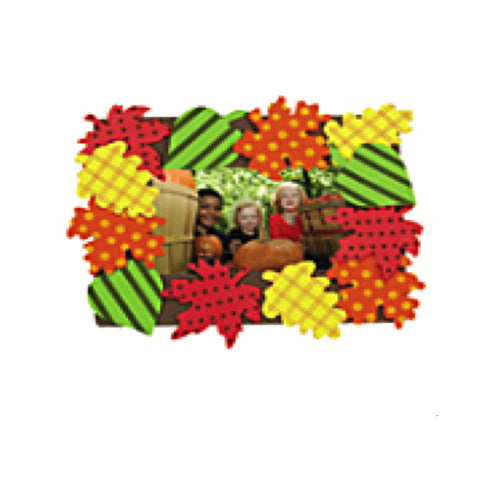 Cool Pattern Fall Leaves Picture Frame Magnet Craft Kit (Makes 12)