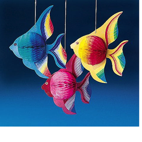 Hanging Tissue Paper Fish Decorations (6 Piece)