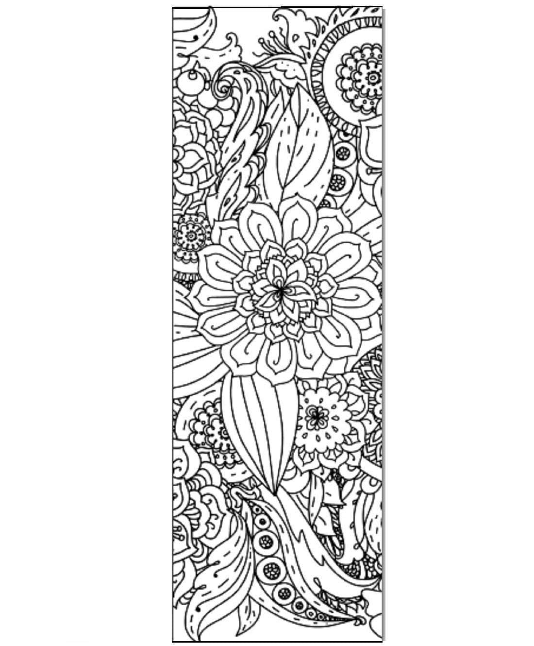 Floral Color Your Own Bookmarks Anti Stress Art Therapy Adult Coloring (50 Pack)