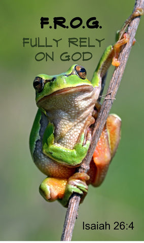 F.R.O.G. Fully Rely On God Frog On Stick Magnet