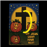 Christian Pumpkin Glow Bracelets with Card (12 Pack)