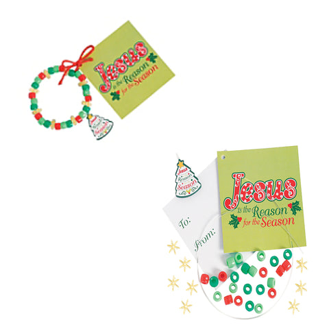 """Jesus Is the Reason"" Christmas Bracelet Craft Kit"