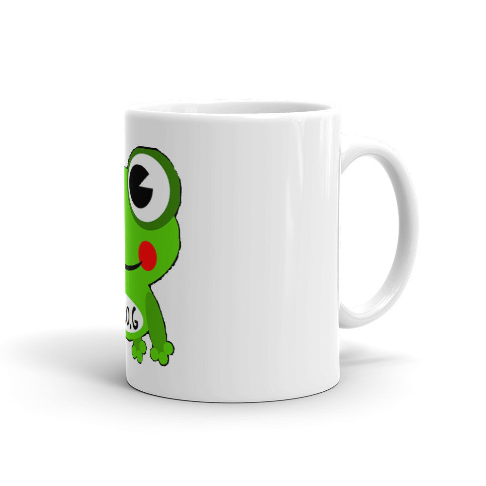Fully Rely On God Cartoon Frog Mug