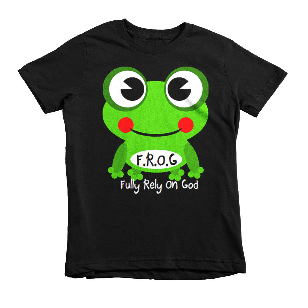 Black Fully Rely On God Short sleeve kids t-shirt