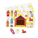 2 Dozen Nativity Scene Sticker Sheets