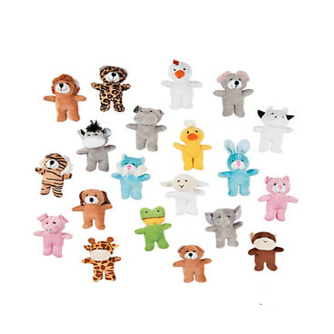 Bulk Plush Mini Cute Animal Assortment 100 Piece