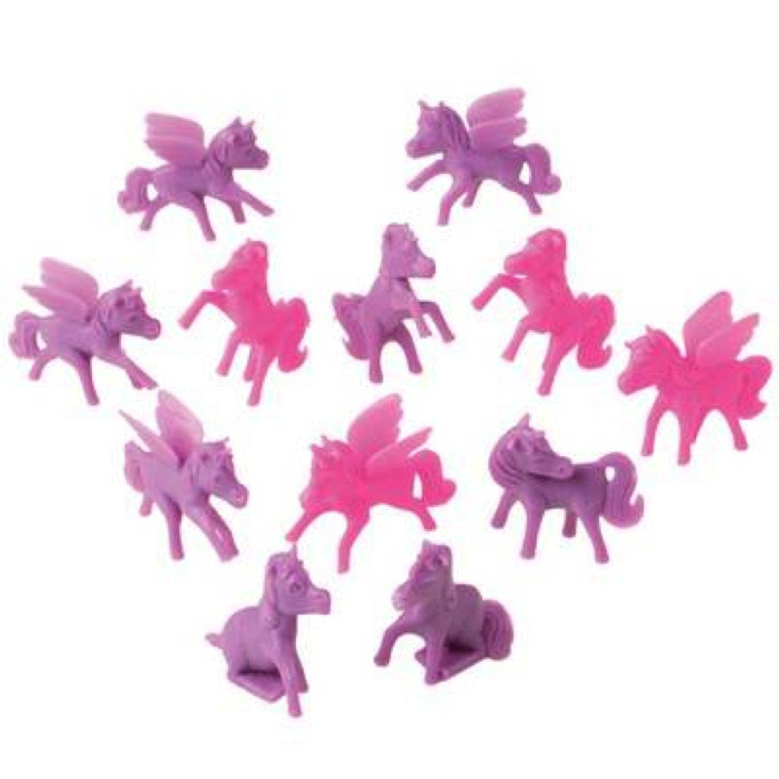 Pink & Purple Mini Pony Cupcake Toppers (Set of 12)