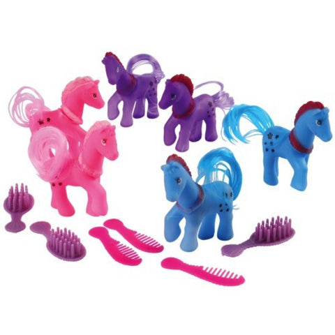 My Little Pony With Combs (Set of 6)