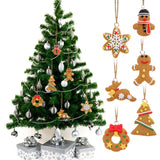 6 Piece Deer Snowman Tree Wreath Star Pendant Christmas Tree Ornaments