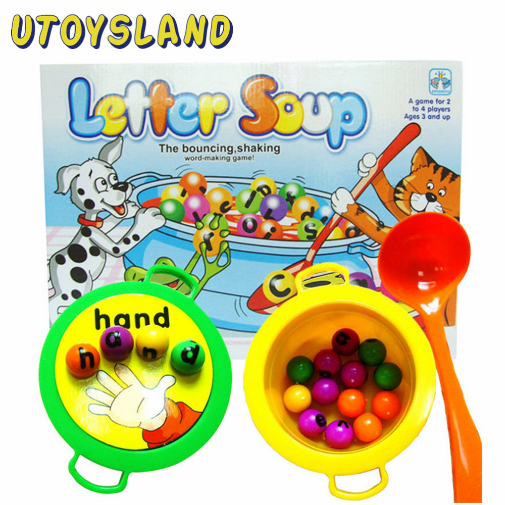 Plastic Letter Soup Matching Word Board Game