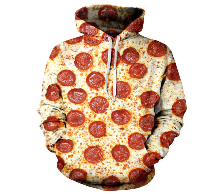 Women or Men Pizza Hoodies 3D Printed