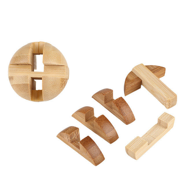 Intellectual Bamboo Puzzle Kong Ming/Luban Lock Brain Teaser Education Toys Game