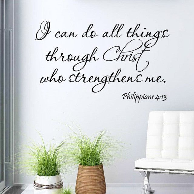 I Can Do All Things Through Christ Wall Stickers