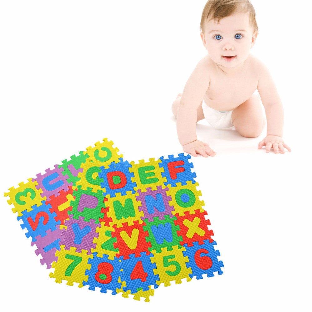 A-Z Alphabet Letters Numeral Foam Mat Play Mat Colorful Puzzle Kid Educational Toy Popular New