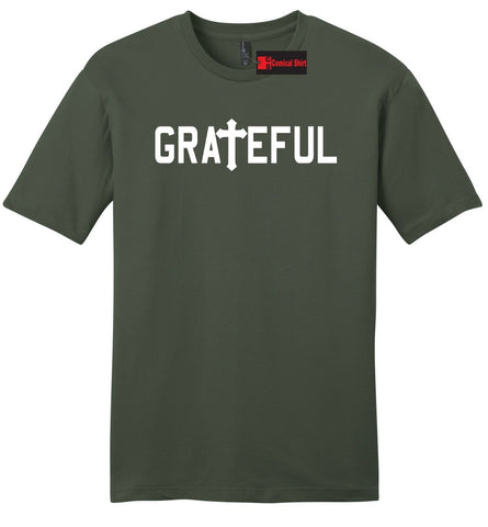 Grateful Religious Mens Soft T Shirt