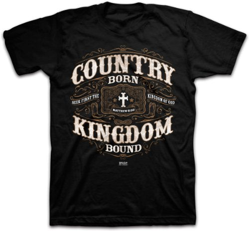GILDAN man t shirt Kerusso Country Born Christian T-shirt