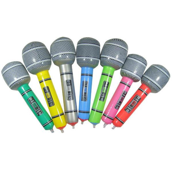 New Hot Inflatable Microphone Blow Up Singing Party Time Favor Rock Toy Children Gift Party Supplies