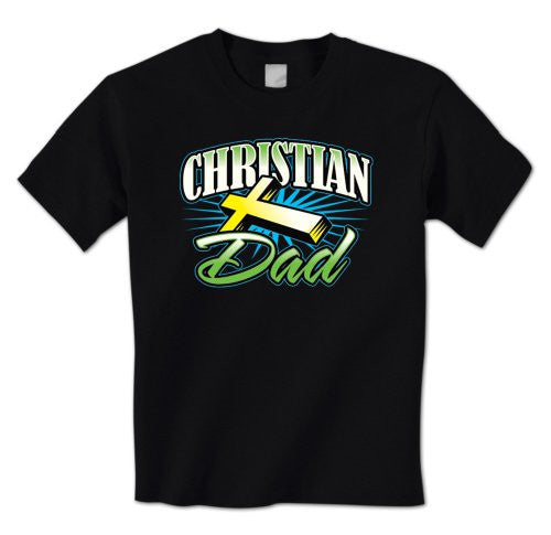 Christian Dad - Cross Jesus Faithful  Father's Day Mens T-Shirt