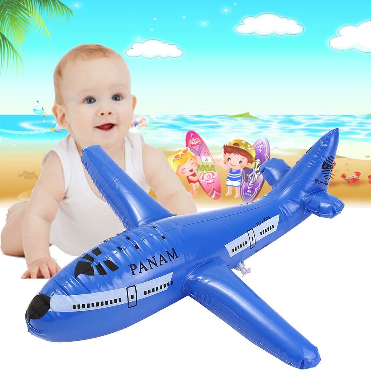 Inflatable Plane Pool Toy