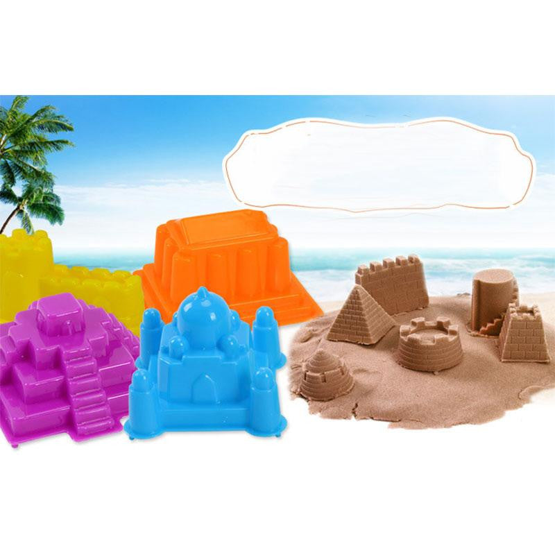 6Pcs/Set Portable Sand Sandcastle Beach Sand Toy Children Building Sight