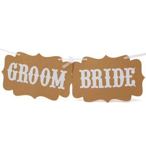 Photo Booth Paper Groom Bride Props