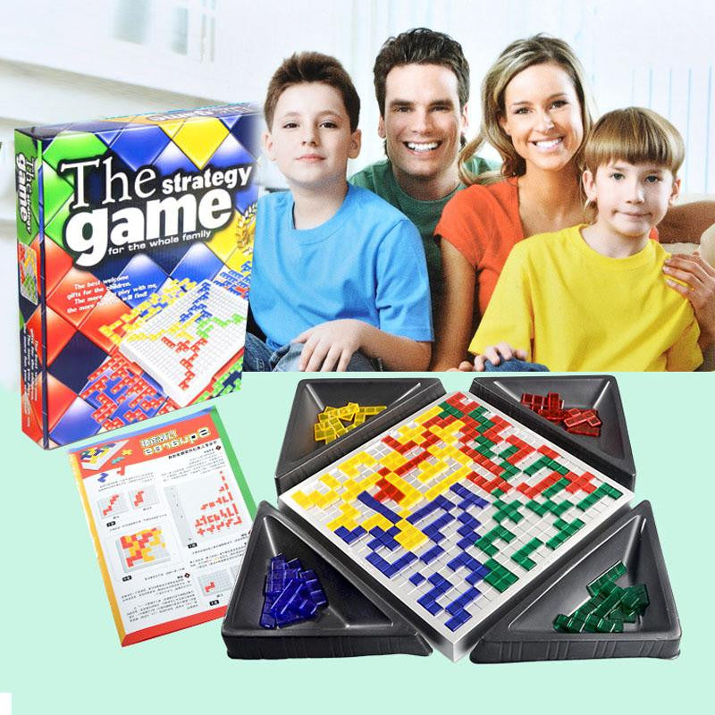 The Strategy Board Game Blokus New Year Gifts Educational Toys Kids Family