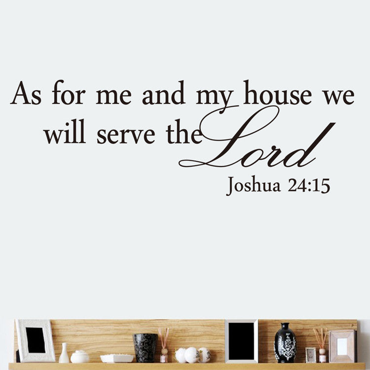 As for me and my house Bible quote Christian Home wall decals