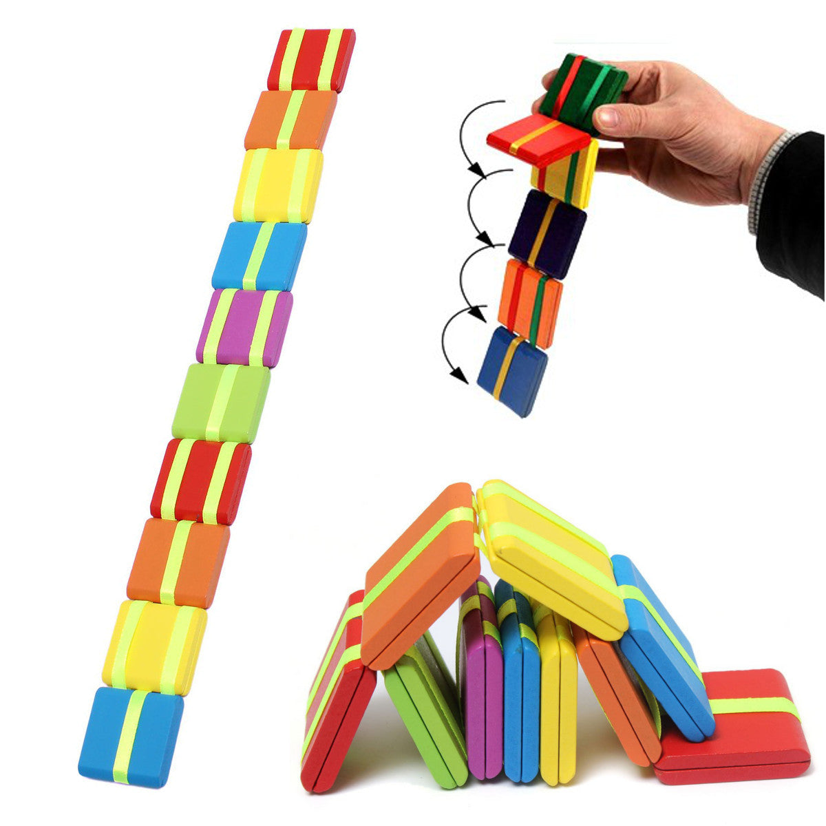 20PCS Multicolor Wooden Magical Game Children Educationanl Toy Russian Classic Puzzle Toys