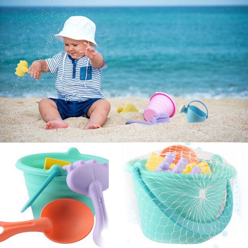 9pcs/set Summer Outdoor Beach Sand Dredging Play Water Bath Fun Toys Set
