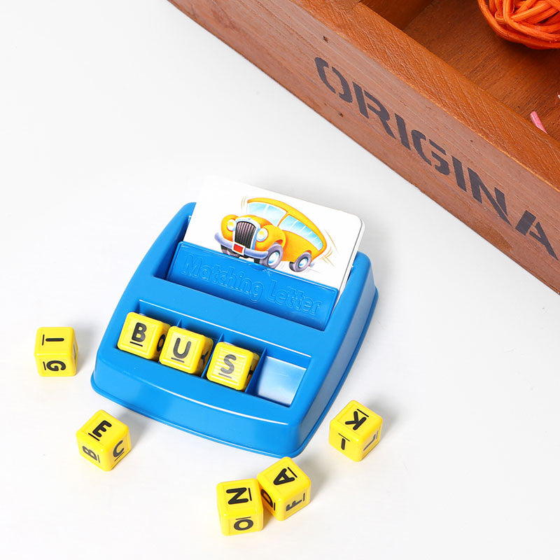 Children Matching Letter Board Game Word Recognition Learning Educational Toys