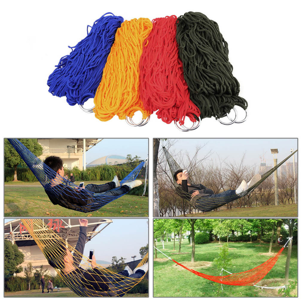 Mesh Hammock Swing Sleeping Bed Nylon HangNet