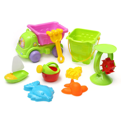 28 Piece Sand Truck Bucket Spade Beach Set