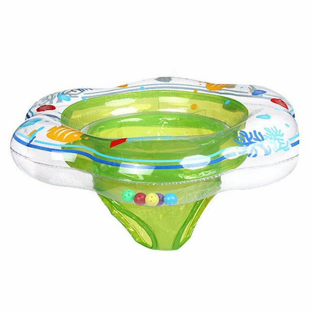 52*21Cm Baby Pool Float Toy Infant Ring Toddler Inflatable Ring Sit in Swimming Pool